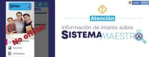 El Ministerio de Educación alerta a los ciudadanos sobre aplicaciones falsas para acceder a vacantes publicadas en la plataforma de Sistema Maestro