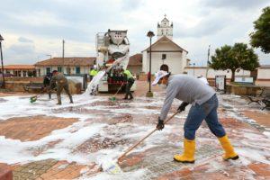 Gobernación de Boyacá y Empresa privada realizaron jornada de desinfección sanitaria