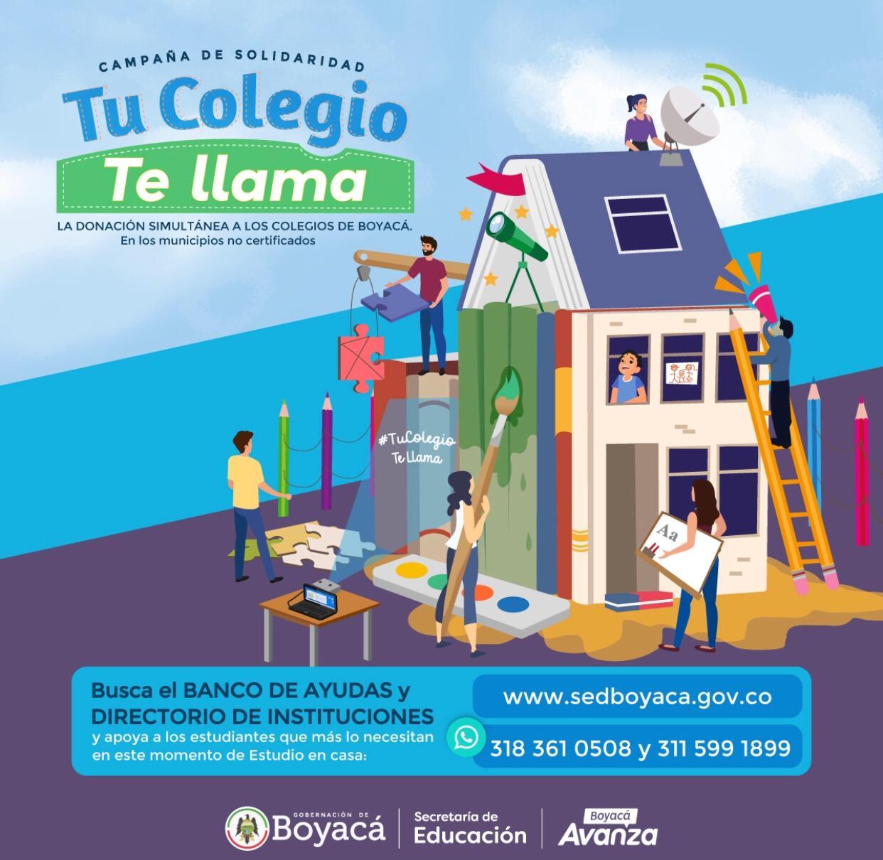 Conozca cómo acceder al Banco de ayudas de la Campaña Solidaria #TuColegioTeLlama