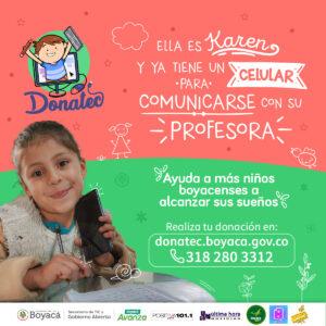 Niños de seis provincias de Boyacá ya han sido beneficiadas con DonaTec