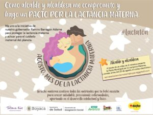 Alcaldes de Boyacá se comprometen con la Lactancia Materna