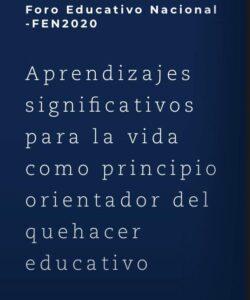 Ministerio de Educación presentará el Preforo Educativo Nacional este 31 de agosto