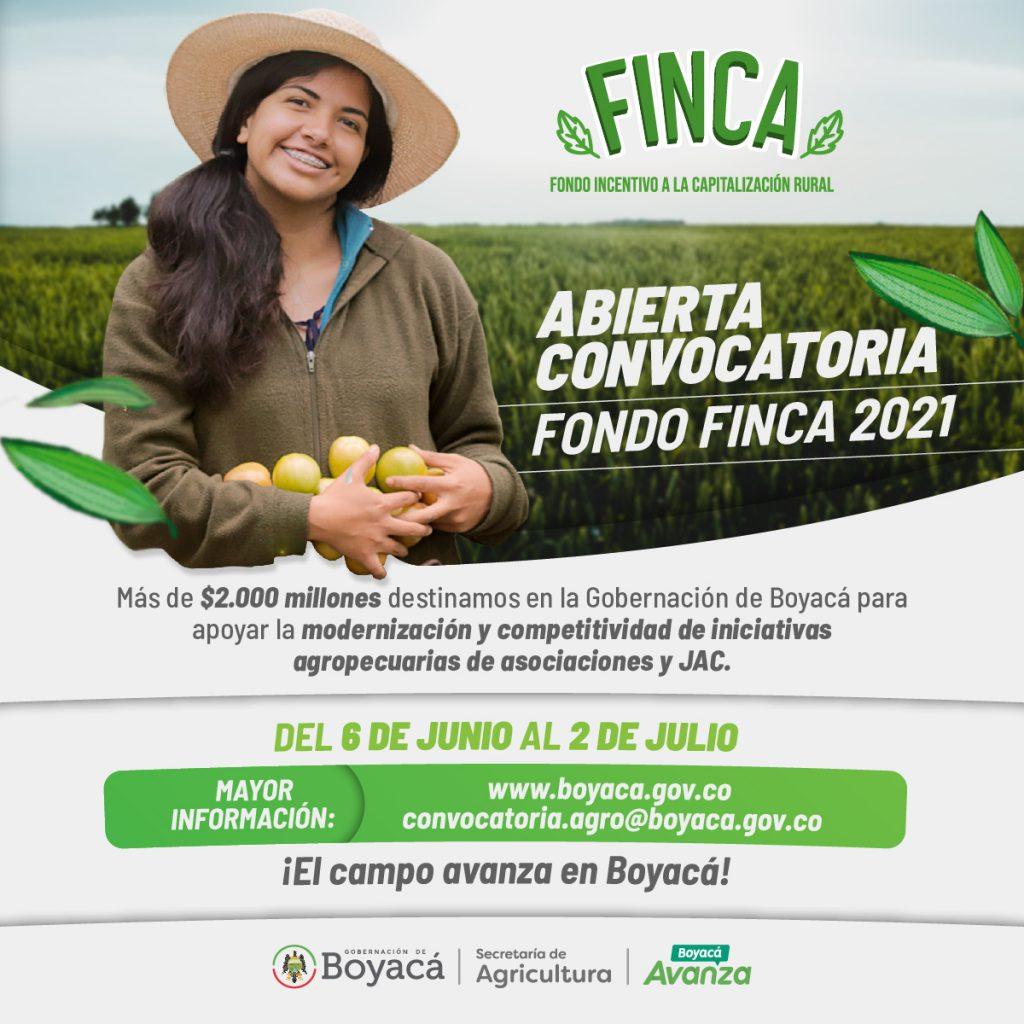 Gobernación de Boyacá da apertura a la convocatoria FINCA 2021 durante la celebración del Día del Campesino