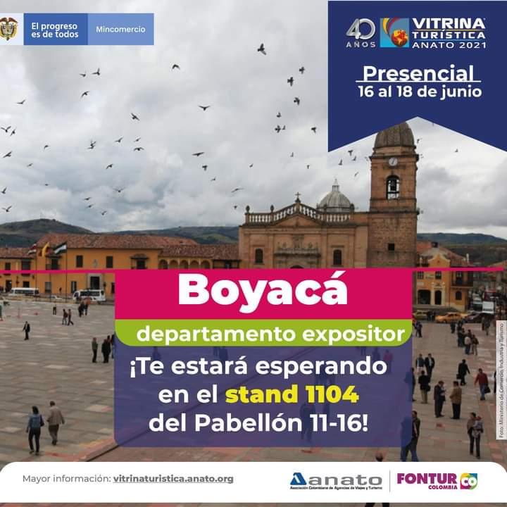 Boyacá está lista para la versión 40 de la Vitrina Turística de Anato