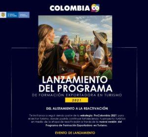 Boyacá participará en el Programa de Formación Exportadora en Turismo de ProCololombia