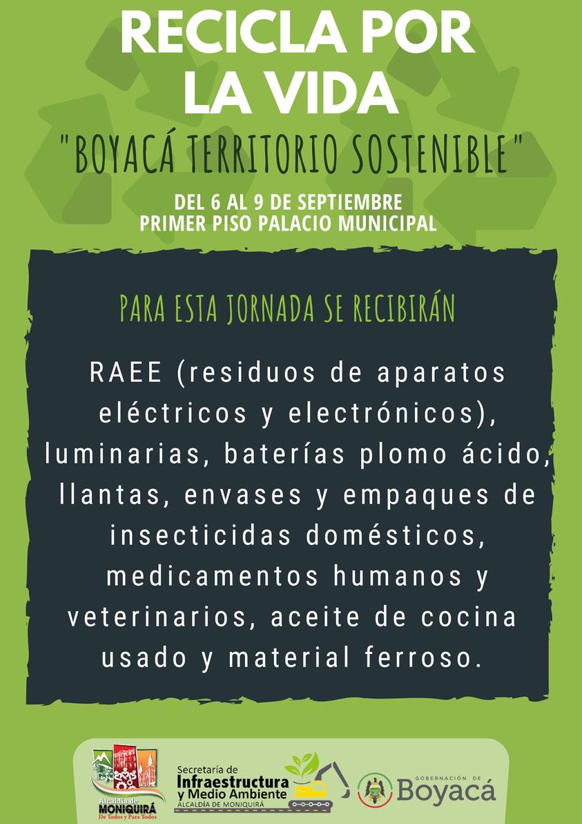 En este momento estás viendo Jornada recicla por la vida del 6 al 9 de septiembre en el primer piso del Palacio Municipal