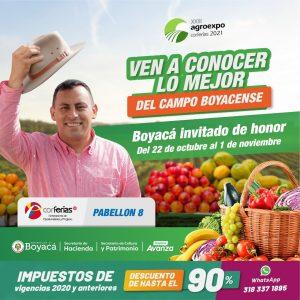 Lee más sobre el artículo Boyaca, invitado de honor en Agroexpo 2021