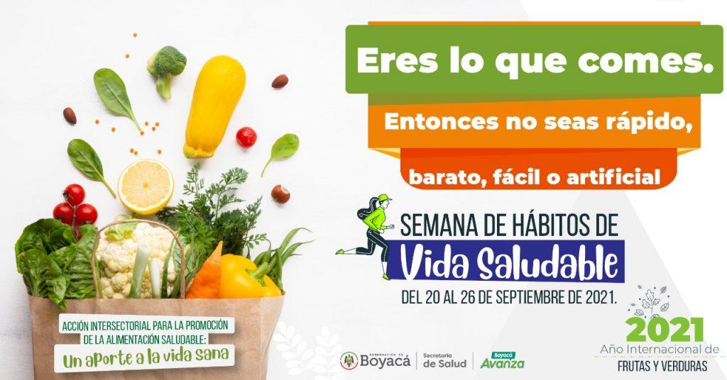 En este momento estás viendo Boyacá conmemora la Semana de Hábitos de Vida Saludable, del 20 al 26 de septiembre
